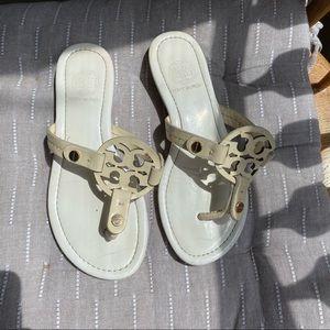 White Tory Burch Miller Sandals Look alike 7 7.5